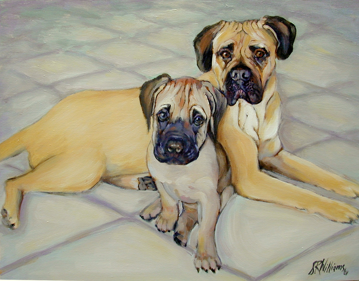 2001 Bullie Babies 24x20 oil on canvas