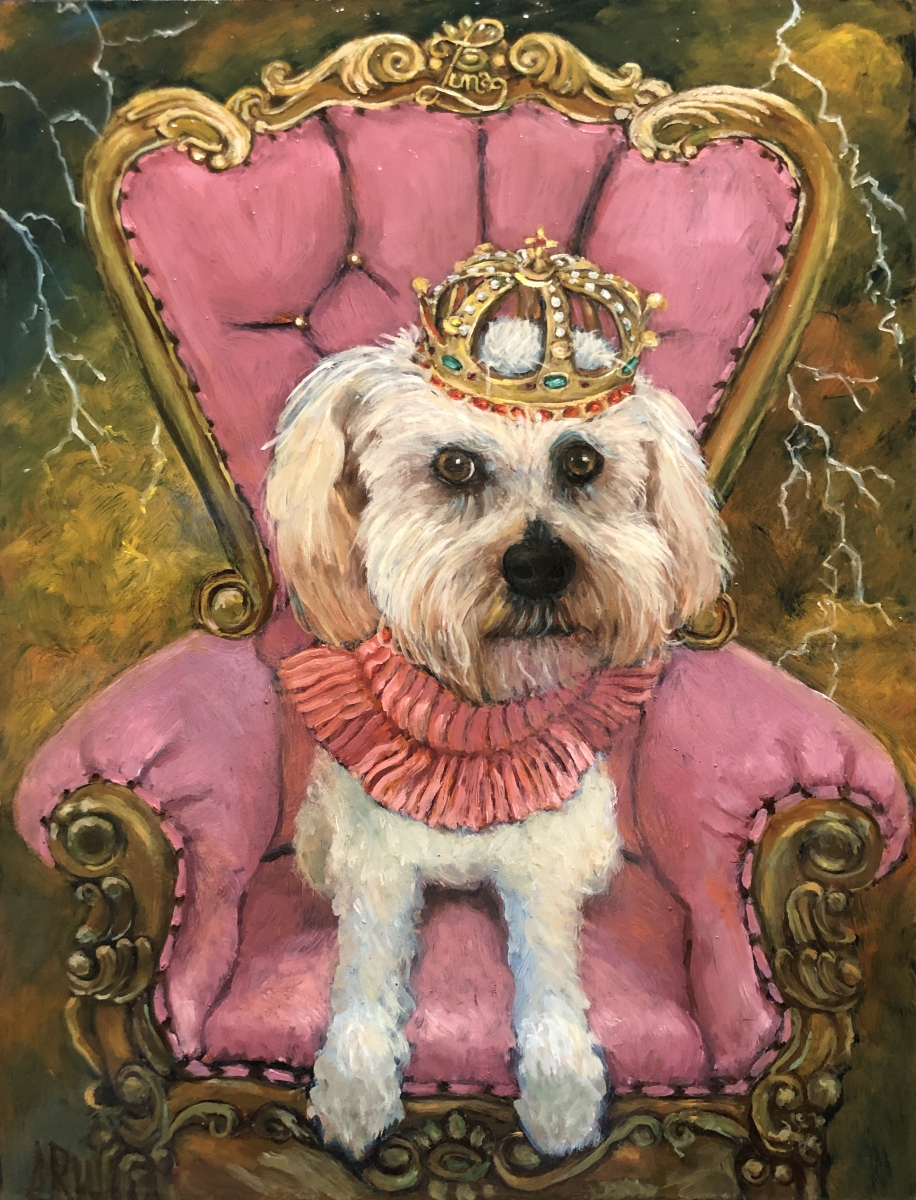 2020 Queen Luna 12x16 oil on panel