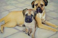 2001 Bullie Babies 24x20 oil on canvas