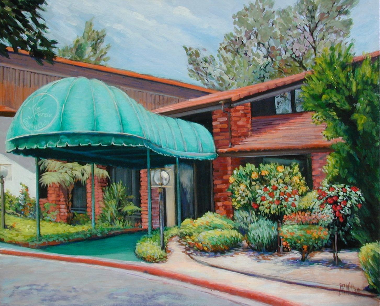 1991 Via Verde Country Club 20x30 acrylic on canvas