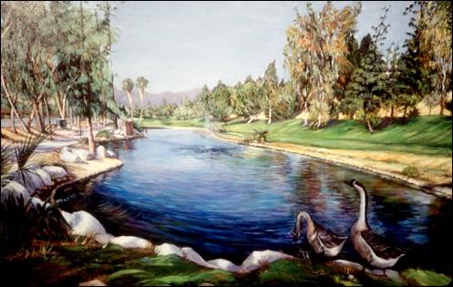 1991 Via Verde Kwan Lake 36x60 Acrylic on canvas