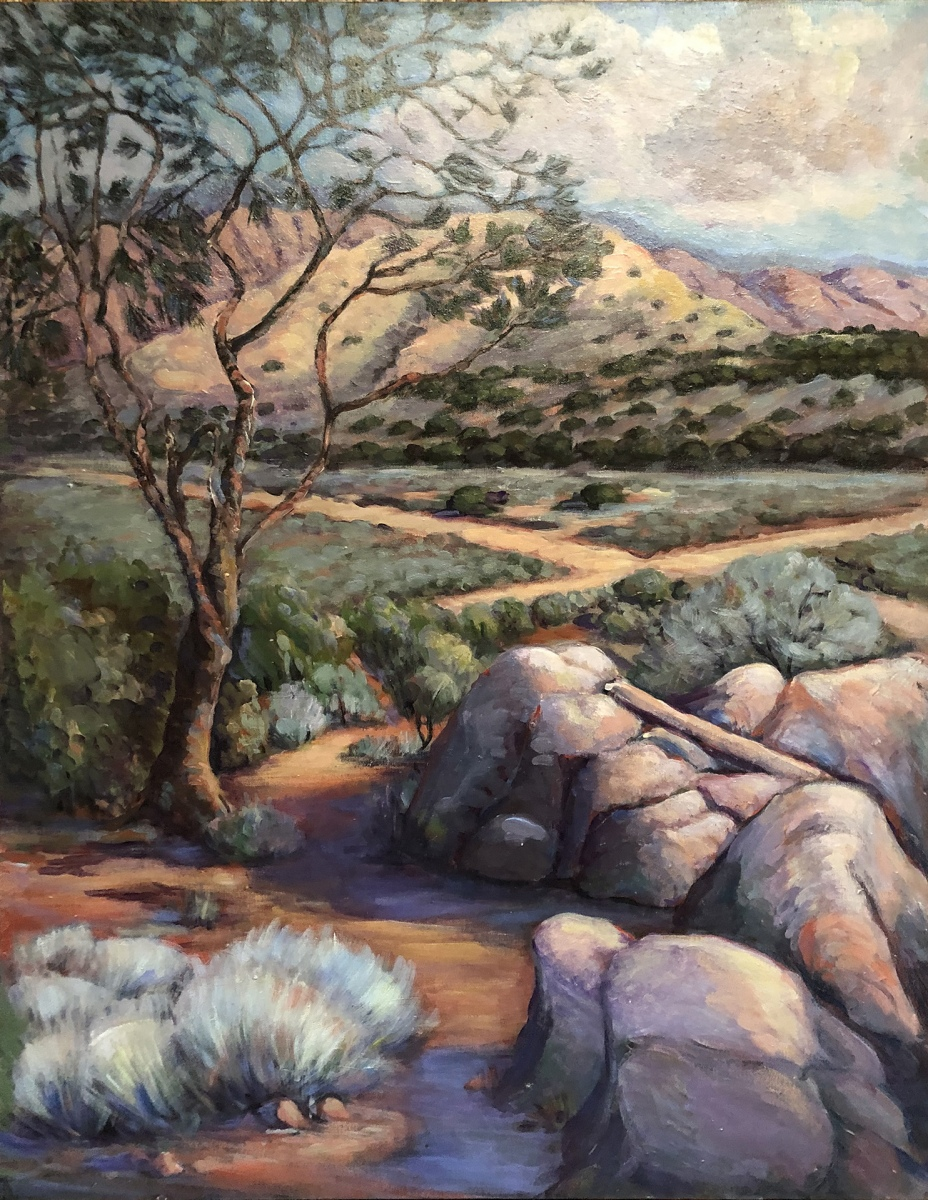 1991 View from South Isabella Hills 30x40 acrylic on canvas
