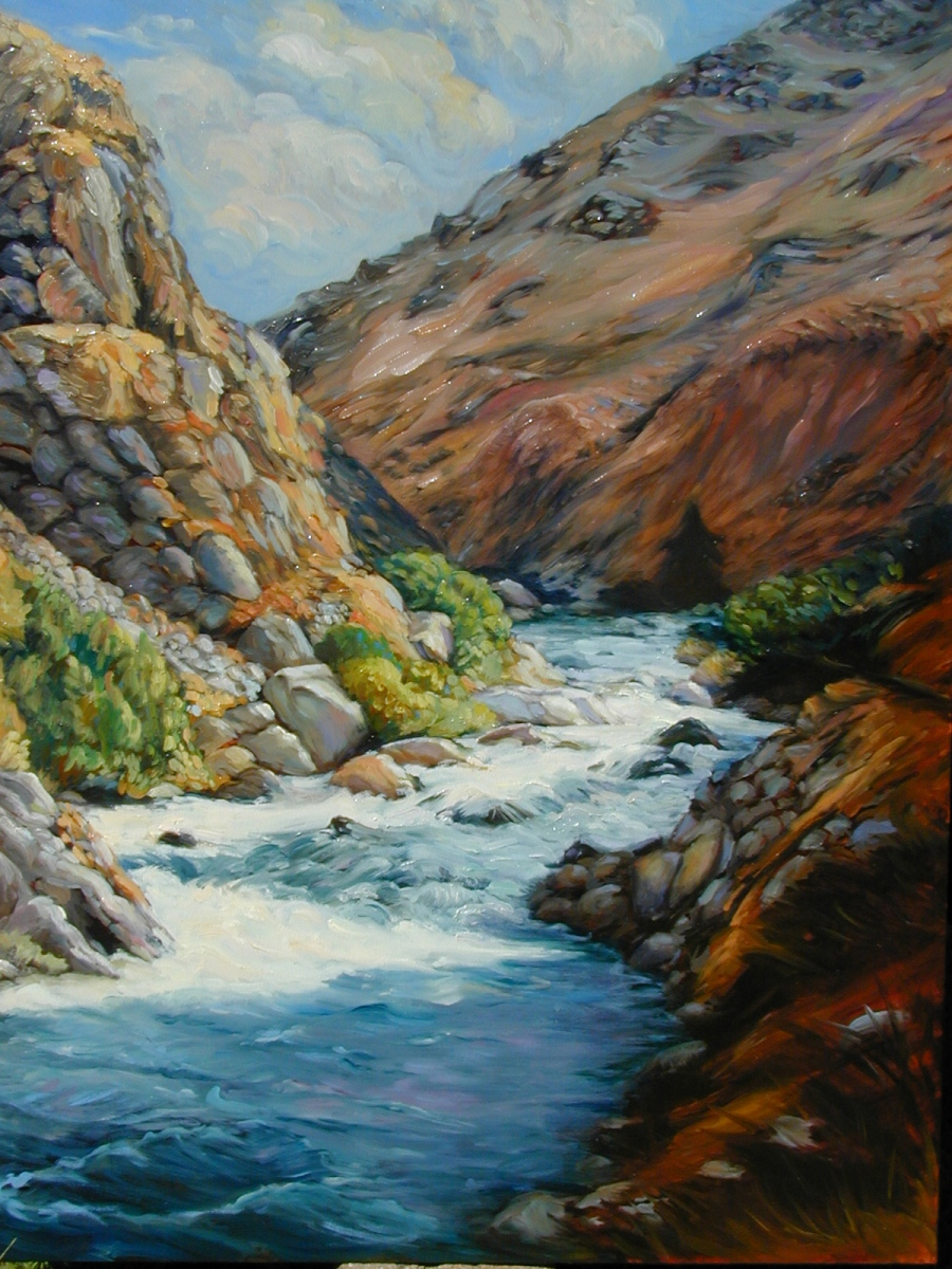 1998 Kern River after El Nino 30x40 oil-on-canvas