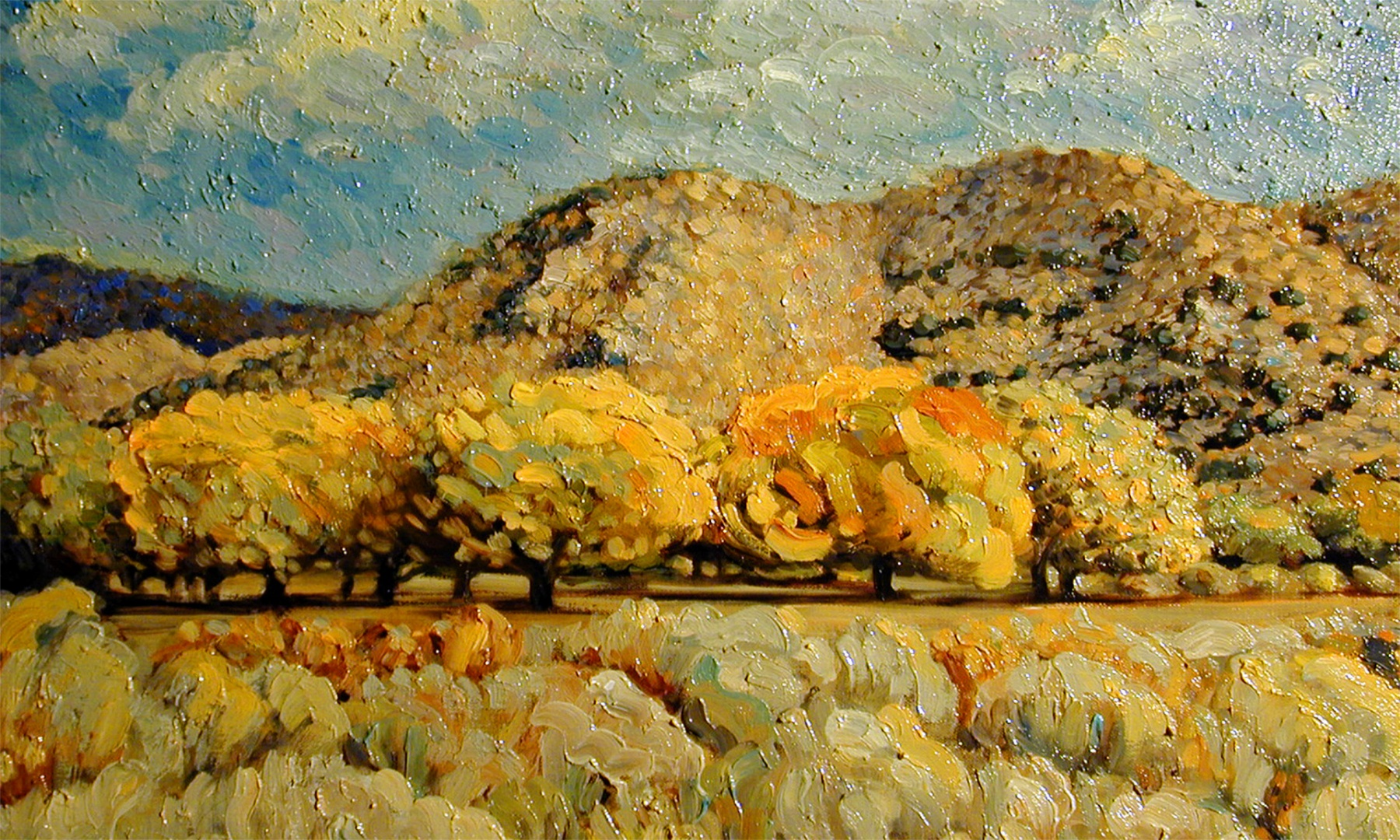 1998 Lake Isabella Fall 24x18 oil on canvas