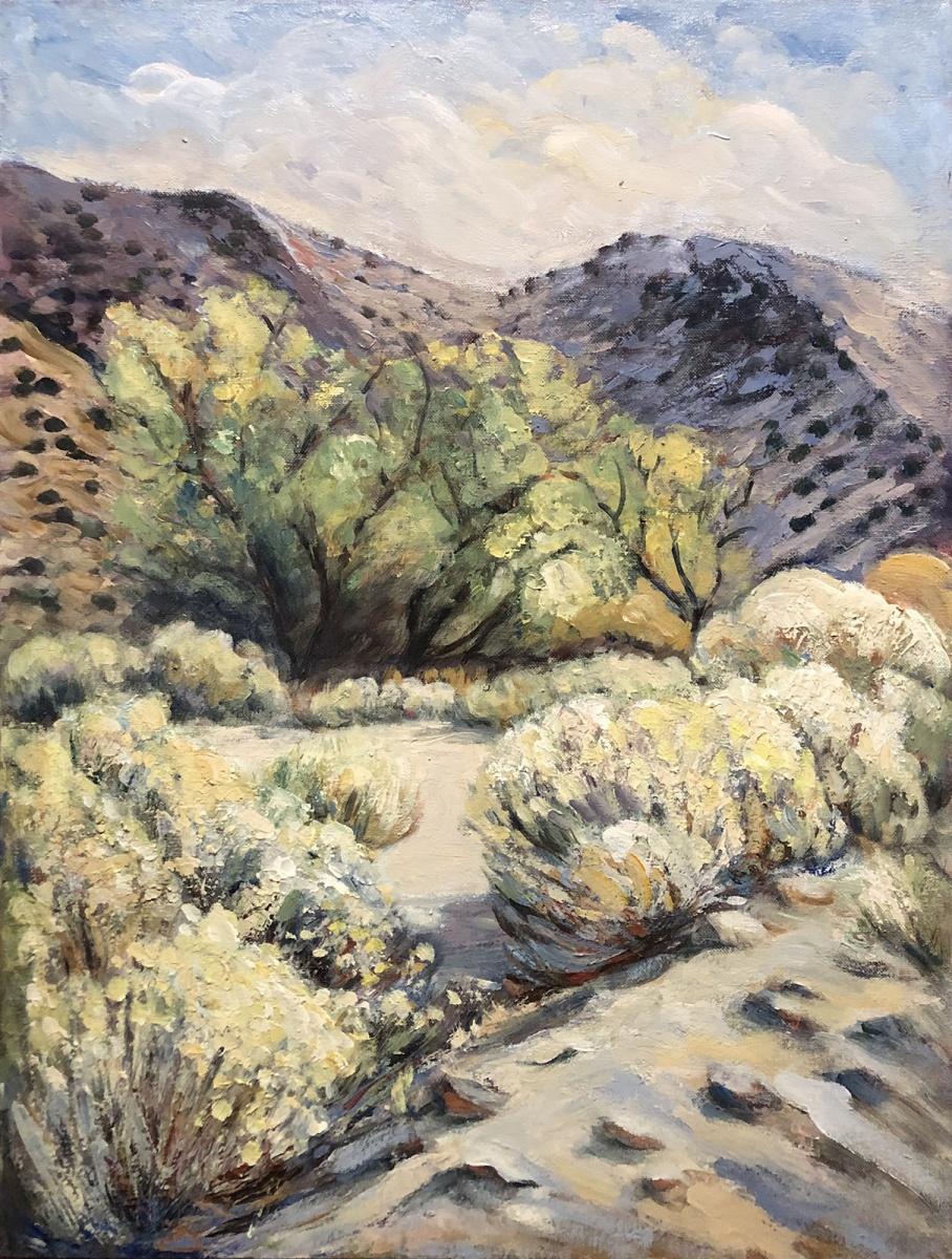 1998 Lake Isabella in Winter 18x24 oil on canvas