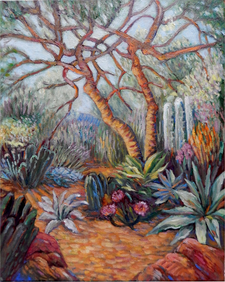 2017 Huntington Gardens 16x20 oil on canvas