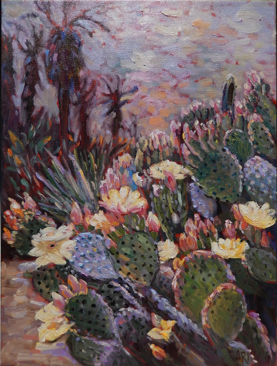 2017 Prickley Pear 12x16 oil on canvas