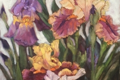 2020 Irises 12x24 oil on panel