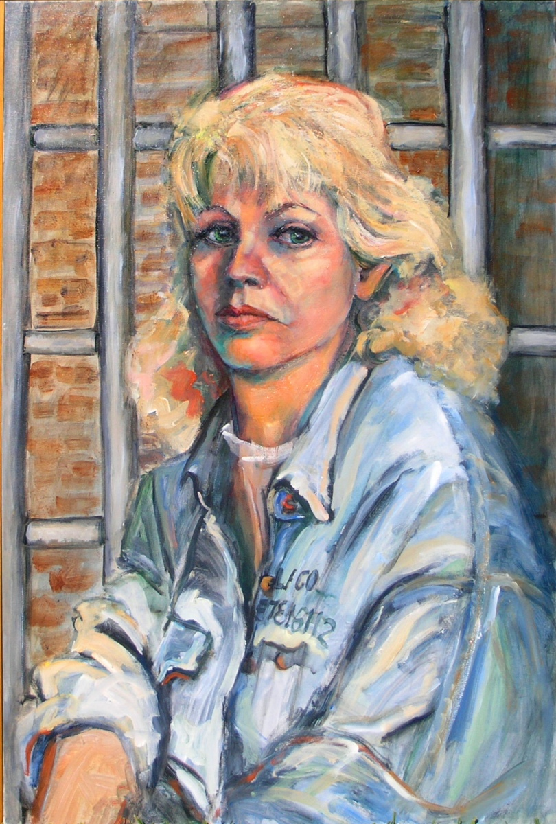 1989 Self Portrait Prisoner of Self 20x24 acrylic-canvas