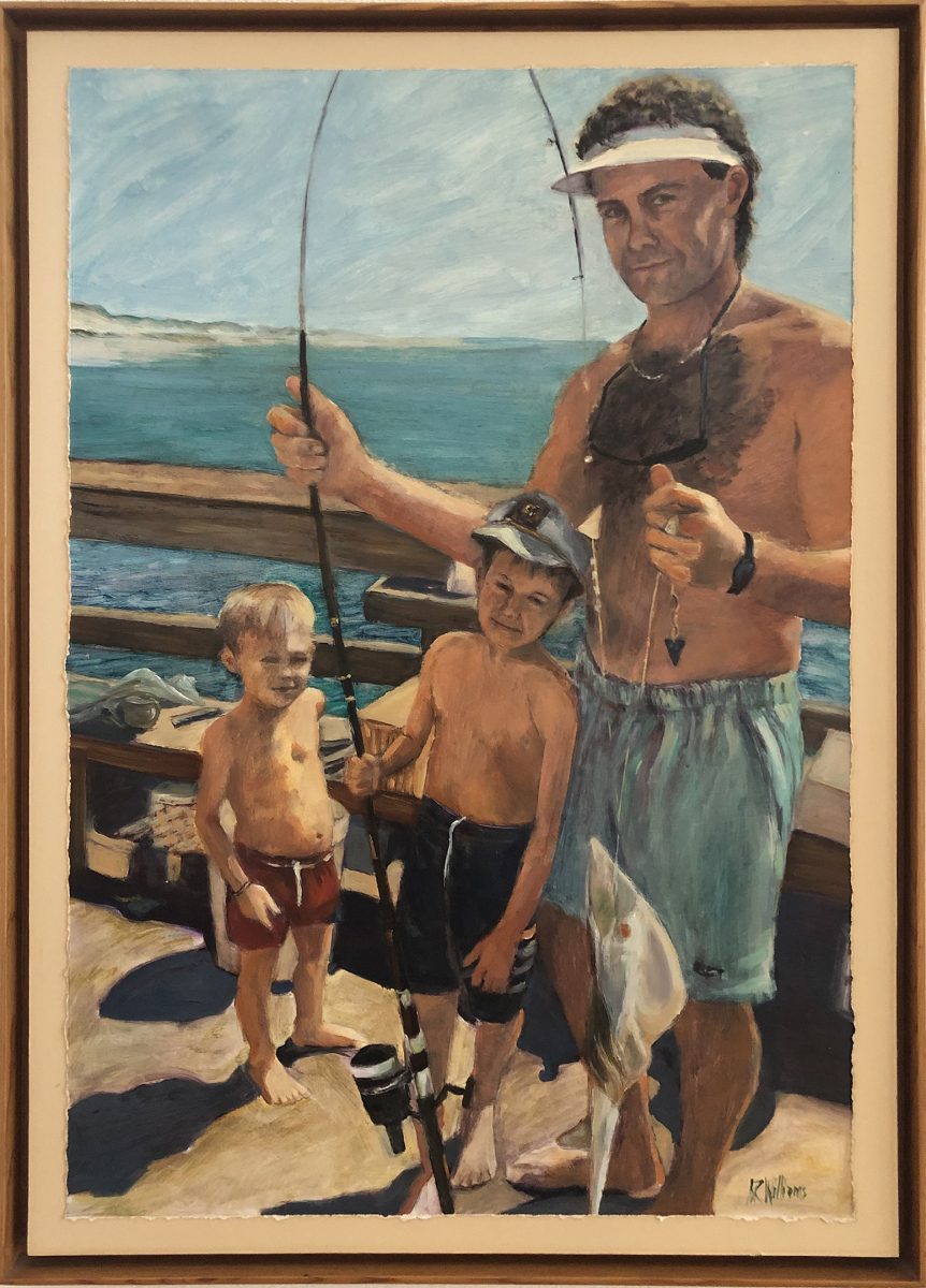 1994 Rocky & Sons Fishing 20x30 Oil on paper