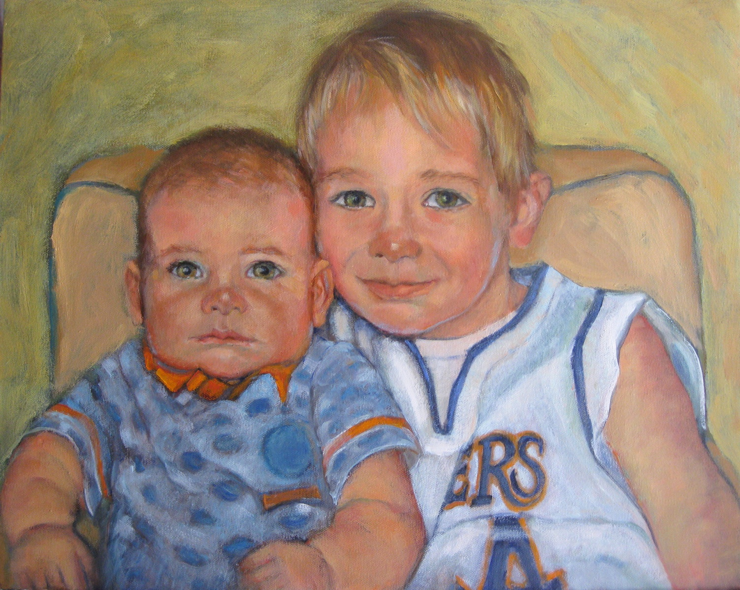 2011 Nathaniel and Robert 18x24 oc