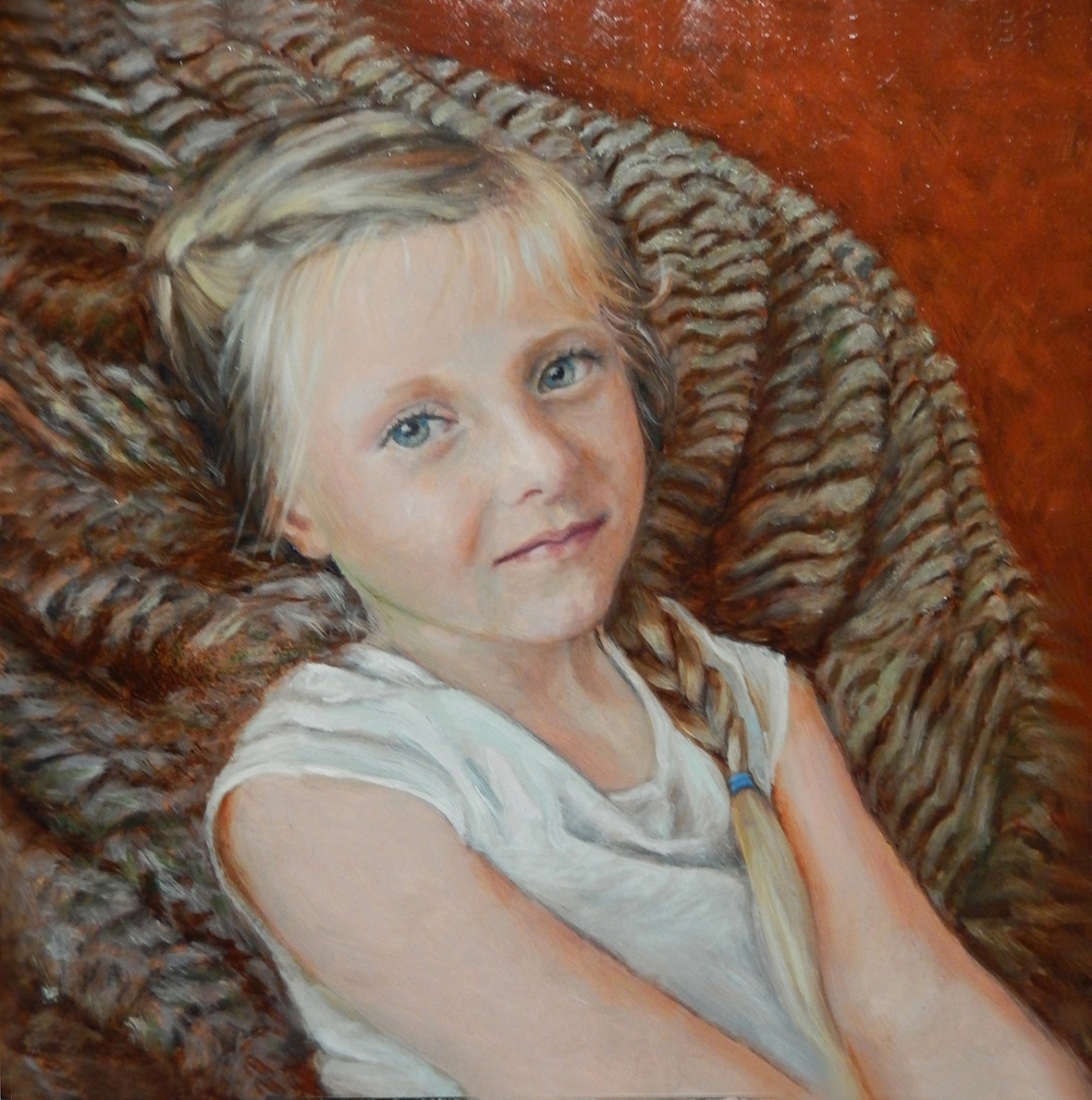 2018 Aubrey in Chair 12x12 oil-panel