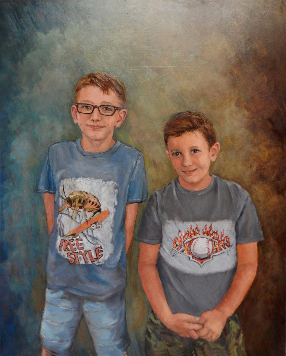 2018 Robert and Nathaniel 24x30 oil-on-panel