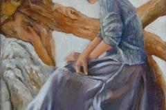 2001 Amanda 18x24 oil on canvas