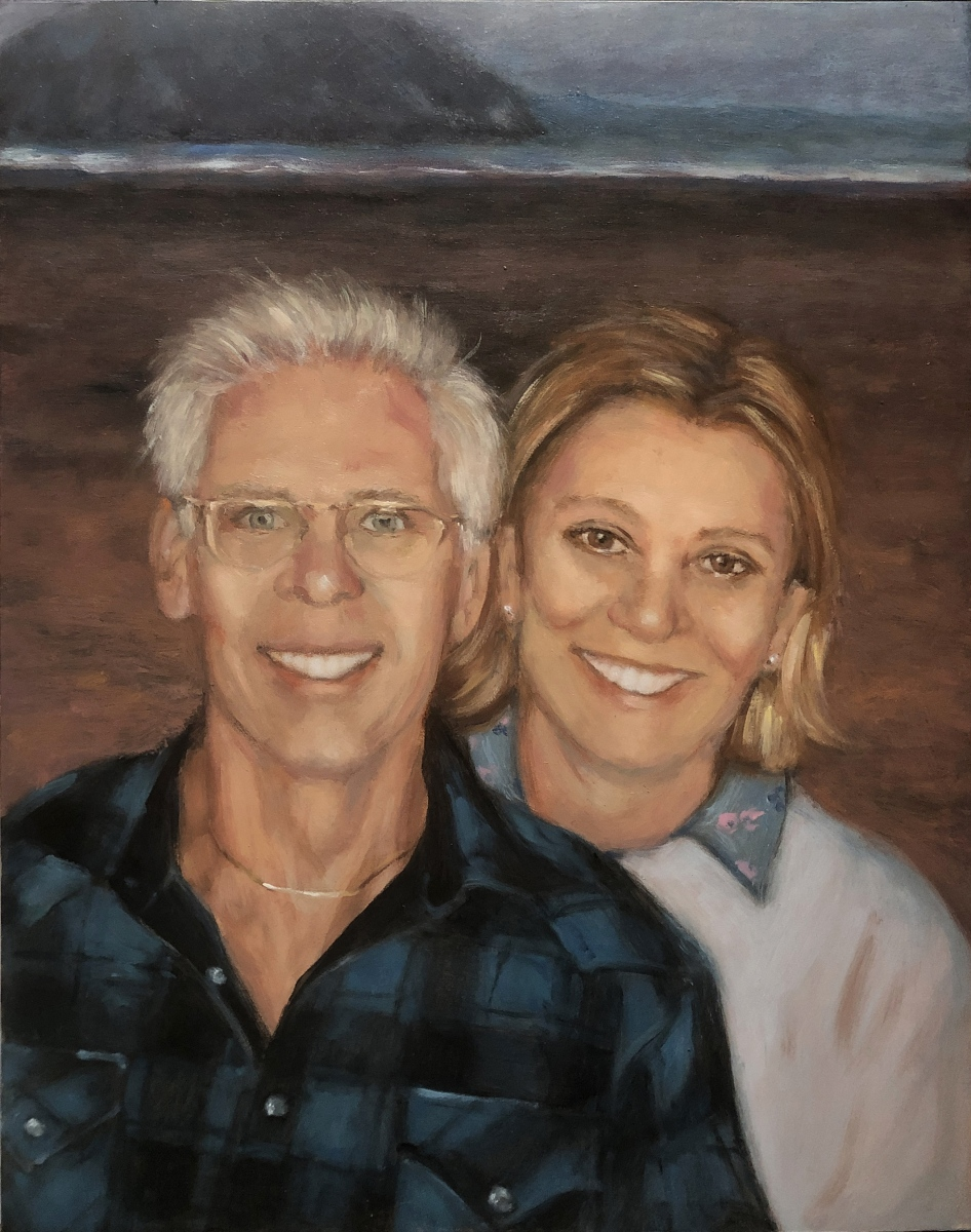 2020 Gary and Terry 11x14 oil on Ampersand panel