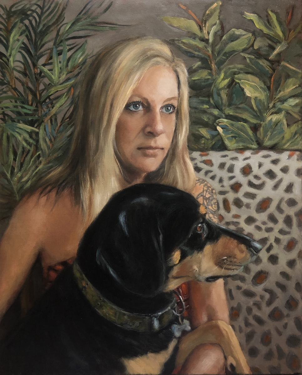 2020 Jennifer and Rover 16x20 oil on canvas