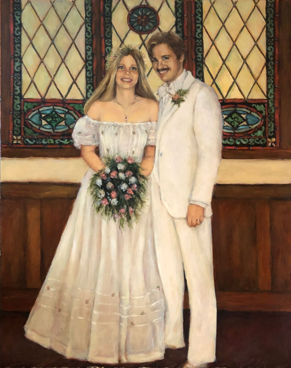 2020 Robin and Ted Wedding 20x24 oil on gessoboard