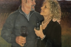2020 Monica  and Rocky at Opolo Winery 18x24 oil on panel