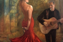 2020 The Flamenco Dancer 36x48 oil on panel