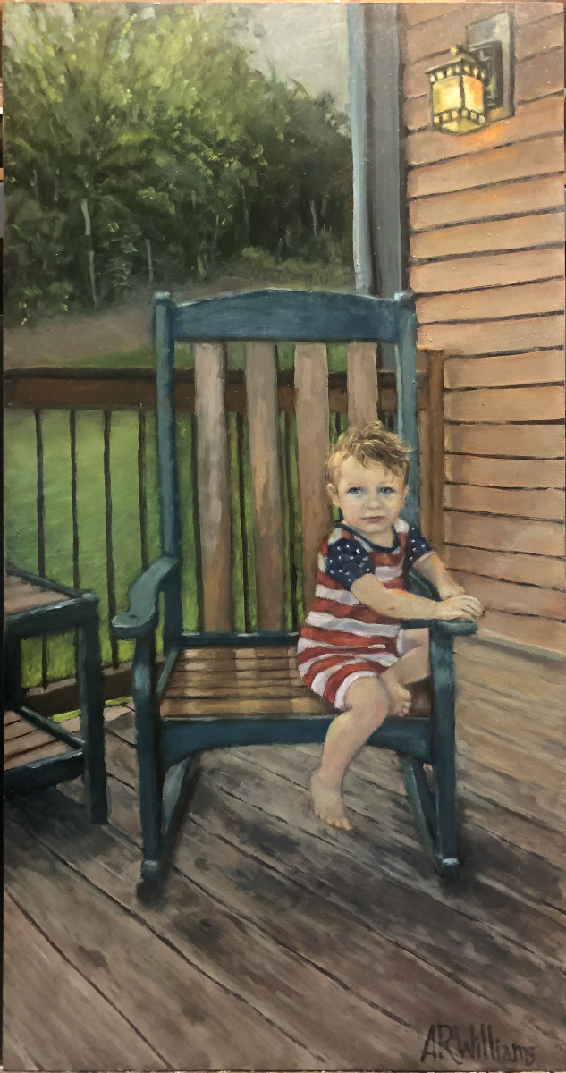 2021 Levi at Cabin 12x24 oil on panel
