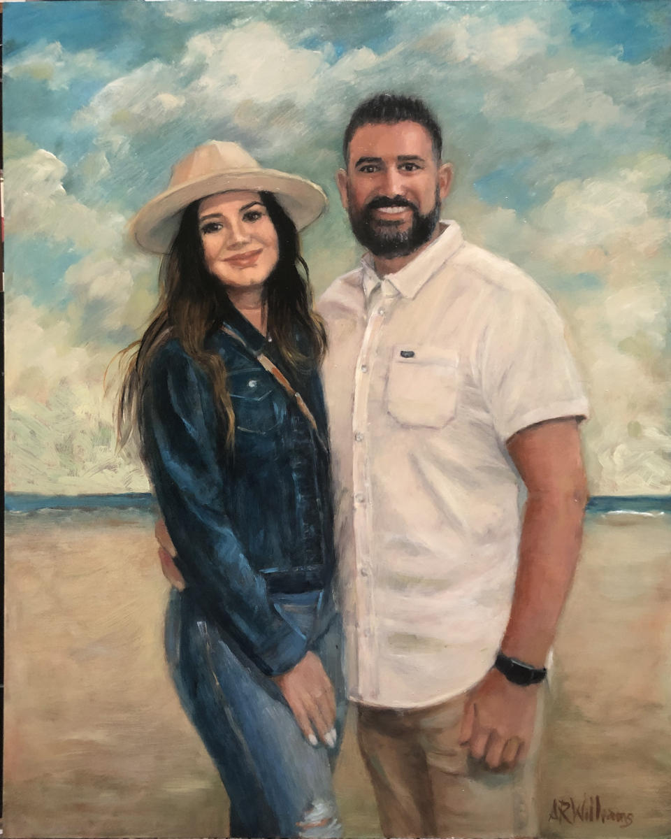 2021 At the Beach 16x20 Oil on Panel